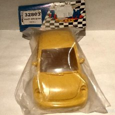 Slot Cars: CARROCERIA VOLKSWAGEN NEW BEETLE AMARILLO RESINA TEAM SLOT REF. 32803. Lote 60887583