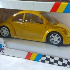 Slot Cars: VOLKSWAGEN NEW BEETLE AMARILLO RESINA TEAM SLOT REF. 22602. Lote 61408539