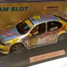 Slot Cars: SEAT LEON SILHOUETTE RESINA TEAM SLOT REF. 74101. Lote 63298900