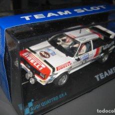 Slot Cars: AUDI QUATTRO GR. A PIRELLI DEL RAC 82 DE TEAM SLOT. Lote 137127669