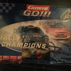 Slot Cars: RALLY CHAMPIONS TURBO GO CARRERA GO CIRCUITO REF. 60415 ( 5,8 METROS). Lote 65942514