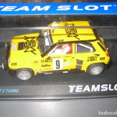 Slot Cars: RENAULT 5 TURBO NEW MAN DE TEAM SLOT. Lote 95774118