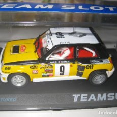 Slot Cars: RENAULT 5 TURBO RALLY MONTECARLO 81 DE RAGNOTTI DE TEAM SLOT. Lote 82805142