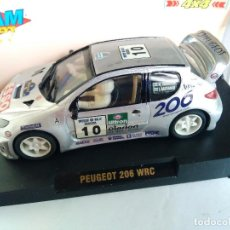 Slot Cars: TEAM SLOT PEUGEOT 206 WRC SUECIA 2000 REF 11002. NUEVO.VÁLIDO SCALEXTRIC. Lote 83966048