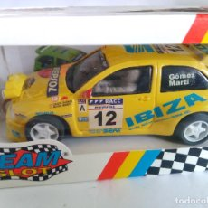 Slot Cars: TEAM SLOT SEAT IBIZA KIT CAR RALLYE CATALUÑA. RESINA. NUEVO. EN CAJA. VÁLIDO SCALEXTRIC. REF 10304. Lote 83968436