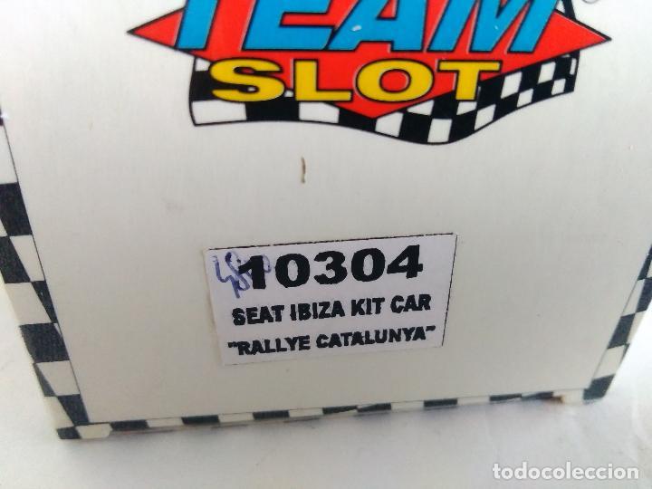 Slot Cars: TEAM SLOT SEAT IBIZA KIT CAR RALLYE CATALUÑA. RESINA. NUEVO. EN CAJA. VÁLIDO SCALEXTRIC. REF 10304 - Foto 5 - 83968436