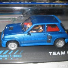 Slot Cars: OFERTA - RENAULT 5 TURBO AZUL DE TEAM SLOT. Lote 135176013