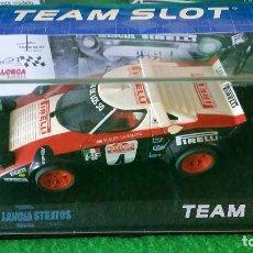 Slot Cars: LANCIA STRATOS HF – RALLY SAN REMO 1978 – CLUB DE LOS 50 – TEAM SLOT – EDICION LIMITADA 100 UNIDADES. Lote 103514059