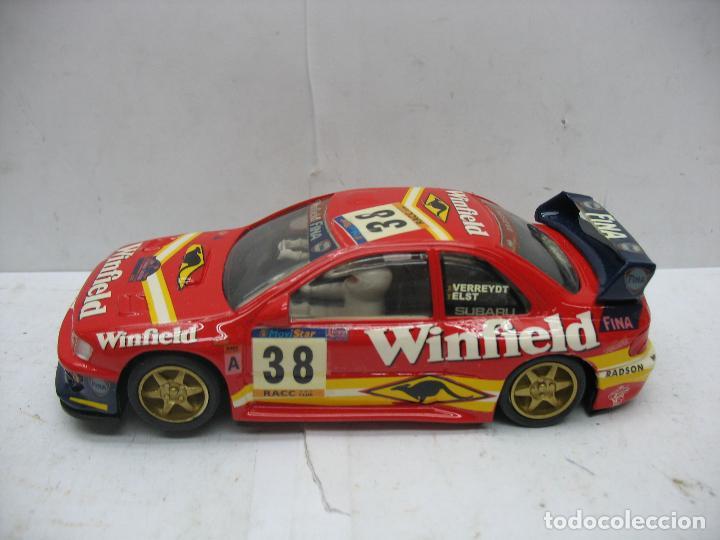 Slot Cars: ¿SCALEXTRIC? TEAM SLOT Ref: 10603 - Coche de carreras Winfield 38 Subaru - Escala 1/32 - Foto 3 - 112897319