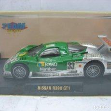 Slot Cars: SCALEXTRIC TEAM SLOT REF: 10802 - COCHE DE CARRERAS NISSAN R390 GT1 33 JOMO. Lote 114469887