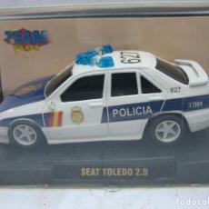 Slot Cars: SCALEXTRIC TEAM SLOT REF: 10204 - COCHE DE CARRERAS SEAT TOLEDO 2.0 POLICIA. Lote 114470575