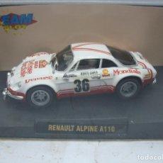 Slot Cars: SCALEXTRIC TEAM SLOT REF: 10704 - COCHE DE CARRERAS RENAULT ALPINE A110. Lote 114776735
