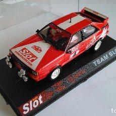 Slot Cars: TEAM SLOT AUDI QUATTRO MAS SLOT . NUEVO, EN URNA. VÁLIDO SCALEXTRIC. Lote 115338011