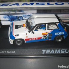 Slot Cars: EXCLUSIVO JAVISLOT- SRE18 - RENAULT 5 TURBO DUCADOS DE J. PAREJA EUROCUP 1984 DE TEAM SLOT. Lote 120085630