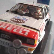 Slot Cars: TEAM SLOT AUDI QUATTRO GR4 DEL RAC 82, PIRELLI. NUEVO EN URNA. VÁLIDO SCALEXTRIC. Lote 177033447