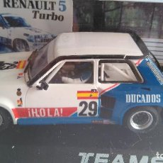 Slot Cars: TEAM SLOT RENAULT 5 R5 TURBO ELF DUCADOS, PAREJA EUROCUP 84.ED. LIMITADA.VÁLIDO SCALEXTRIC. Lote 189439876