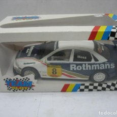 Slot Cars: ¿SCALEXTRIC? TEAM SLOT REF: 10403 - COCHE DE CARRERAS AUDI A4 ROTHMANS. Lote 121134355