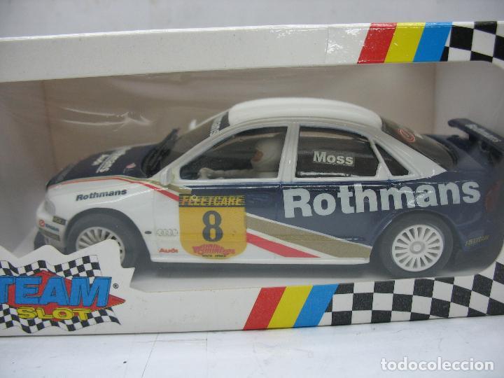 Slot Cars: ¿SCALEXTRIC? TEAM SLOT Ref: 10403 - Coche de carreras Audi A4 Rothmans - Foto 2 - 121134355