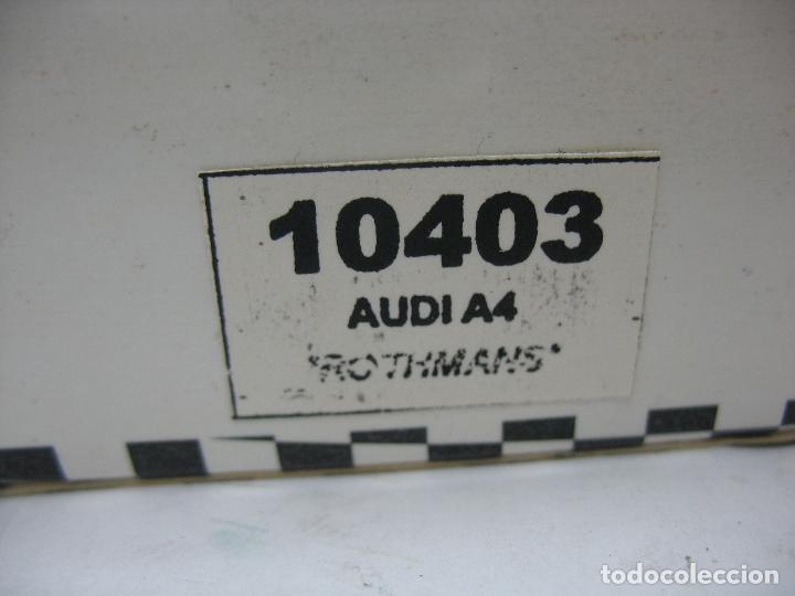 Slot Cars: ¿SCALEXTRIC? TEAM SLOT Ref: 10403 - Coche de carreras Audi A4 Rothmans - Foto 3 - 121134355