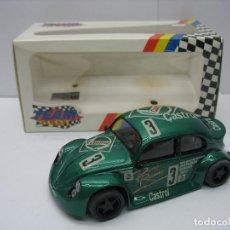 Slot Cars: ¿SCALEXTRIC? TEAM SLOT REF: 70102 - COCHE DE CARRERAS VOLKSWAGEN GT1 ESCARABAJO CASTROL. Lote 145311294