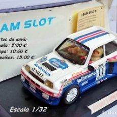 Slot Cars: ÚNICO TEAM SLOT REF 72702 RENAULT 5 TURBO ROTHMANS - F ATTILA / T JÁNOS - RALLY LLORET DE MAR 1985. Lote 115546991