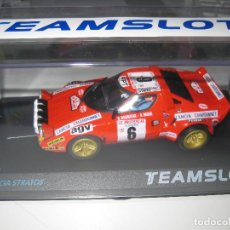 Slot Cars: NOVEDAD - LANCIA STRATOS TOUR DE CORSE 1975 DE TEAM SLOT. Lote 139573512