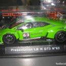 Slot Cars: ULTIMAS UNIDADES - PRESENTATION LB H GT3 Nº63 VERDE DE SIDEWAYS. Lote 160370922