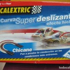 Slot Cars: SCALEXTRIC TECNITOYS. CURVA SUPERDESLIZANTE EFECTO HIELO.. Lote 128072511