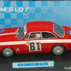 Slot Cars: ALFA ROMEO GIULIA GTA 1º COPA DE LOS ALPES 1966 (TEAM SLOT). Lote 128672399