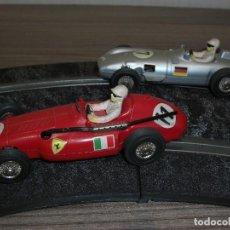 Slot Cars: MARKLIN SPRINT. (PAREJA COCHES). FERRARI SUPERSQUALO Y MERCEDES W 196 MONOPOSTO.. Lote 139092258