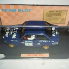 Slot Cars: FORD ESCORT MKII DE TEAM SLOT, REALIZADO EN RESINA EDICION LIMITADA REF.-74301. Lote 139209666