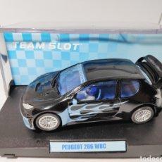 Slot Cars: TEAM SLOT PEUGEOT 206 WRC FLAME TUNING. Lote 142575761