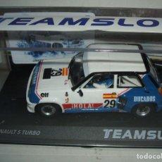 Slot Cars: SRE18 - RENAULT 5 TURBO ELF DE J. PAREJA EUROCUP 1984 DE TEAM SLOT. Lote 143021050