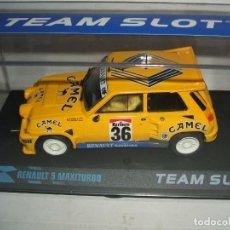 Slot Cars: RENAULT 5 MAXITURBO CAMEL DE TEAM SLOT. Lote 143021070