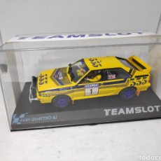 Slot Cars: TEAM SLOT AUDI QUATTRO A2 HONG KONG BEIJING RALLY 85 REF. 12305. Lote 201541831