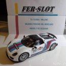 Slot Cars: PORSCHE 918 SPYDER MARTINI RACING Nº 23 CARRERA DIGITAL SYSTEM. Lote 161173982