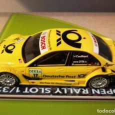 Slot Cars: COCHE SCALEXTRIC SLOT AMG MERCEDES 2007 C KLASS AMARILLO. Lote 162041706