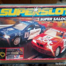 Slot Cars: SUPERSLOT - SUPER SALOONS - SCALEXTRIC - COMPLETO 2 COCHES - FORD MONDEO + BMW 318I. Lote 162631374
