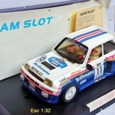 Slot Cars: TEAM SLOT REF 72702 RENAULT 5 TURBO ROTHMANS - F ATTILA / T JÁNOS - RALLY LLORET DE MAR 1985 - ÚNICO. Lote 115546991