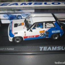 Slot Cars: SRE18 - RENAULT 5 TURBO DUCADOS DE J. PAREJA EUROCUP 1984 DE TEAM SLOT. Lote 243296465