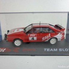 Slot Cars: TEAM SLOT 1000001 AUDI QUATTRO A1 ED ESP 4º ANIVERSARIO MASSLOT 2004. Lote 171356259