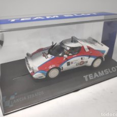 Slot Cars: TEAM SLOT LANCIA STRATOS TAC RALLY MARTINI REF. 11514. Lote 172022158