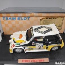 Slot Cars: TEAM SLOT RENAULT 5 MAXITURBO SAINZ RESINA REF. 70501 EDICIÓN LIMITADA. Lote 172160077