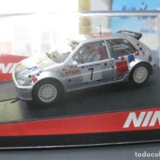 Slot Cars: 50299 - CITROEN SAXO SUPER 1600 DE M. CABO RALLY DE VILLAJOYOSA DE NINCO. Lote 172691778
