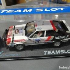 Slot Cars: AUDI QUATTRO GR. A PIRELLI DEL RAC 82 DE TEAM SLOT. Lote 180506380