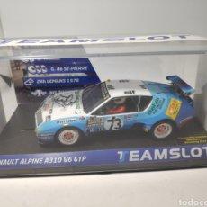 Slot Cars: TEAM SLOT RENAULT ALPINE A310 V6 GTP 24H. LEMANS 1978 REF. 12802. Lote 184542585