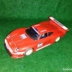 Slot Cars: LOTE OFERTA COCHE SLOT CAR - COCHE DE PISTA TIPO SCALEXTRIC - HORNBY - PORSCHE 911 GT1- MADE ENGLAND. Lote 189520521