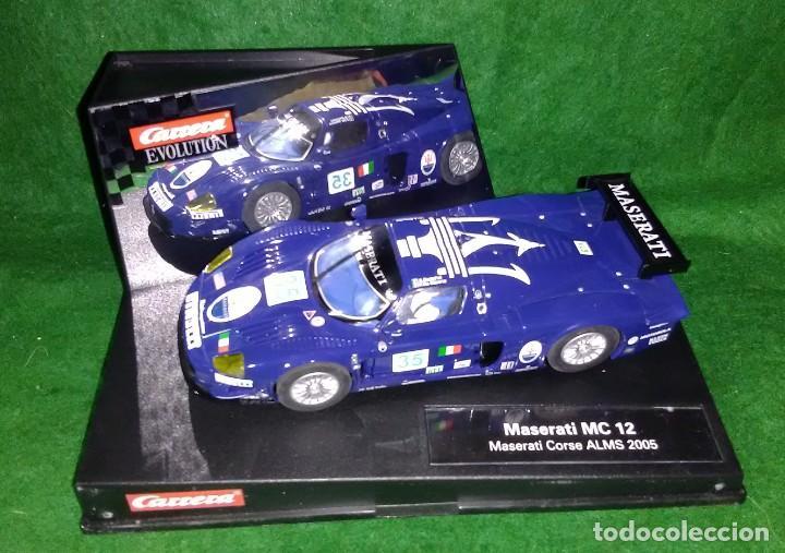 LOTE OFERTA COCHE SLOT CAR - COCHE DE PISTA TIPO SCALEXTRIC - CARRERA - MASERATI MC 12 - CORSE 2005 (Juguetes - Slot Cars - Team Slot)