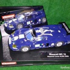 Slot Cars: LOTE OFERTA COCHE SLOT CAR - COCHE DE PISTA TIPO SCALEXTRIC - CARRERA - MASERATI MC 12 - CORSE 2005. Lote 208482223
