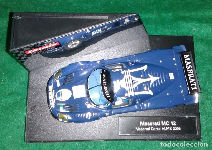 Slot Cars: LOTE OFERTA COCHE SLOT CAR - COCHE DE PISTA TIPO SCALEXTRIC - CARRERA - MASERATI MC 12 - CORSE 2005 - Foto 2 - 208482223